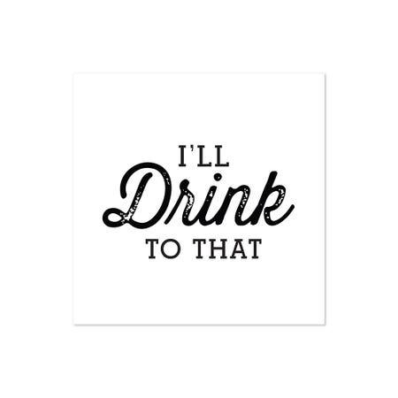 Cocktail Napkin S 20 Ill Drin