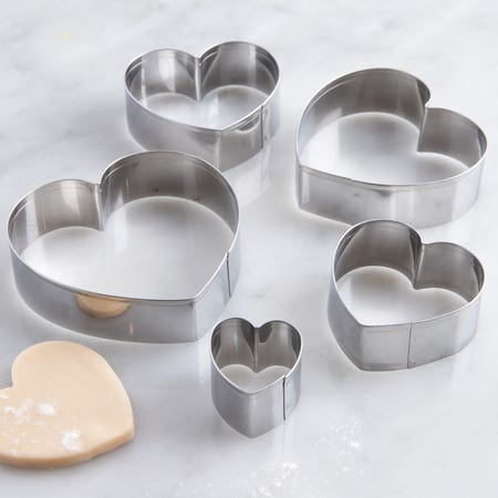 38814_Fox_Run_'Heart'_Cookie_Cutters___Set_of_5