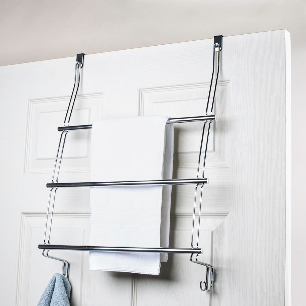 iDesign Classico Over-Shower-Door Towel Rack