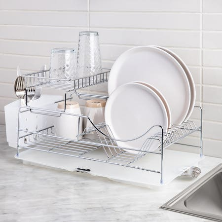 49043_KSP_Scoop_2_Tier_Dish_Rack___White