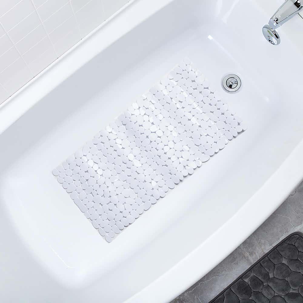 Splash Puddle Bathtub Mat - White