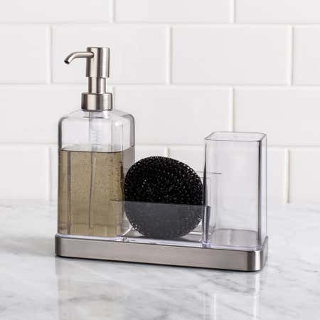 52319_iDesign_Forma_Soap___Brush_Caddy___Clear