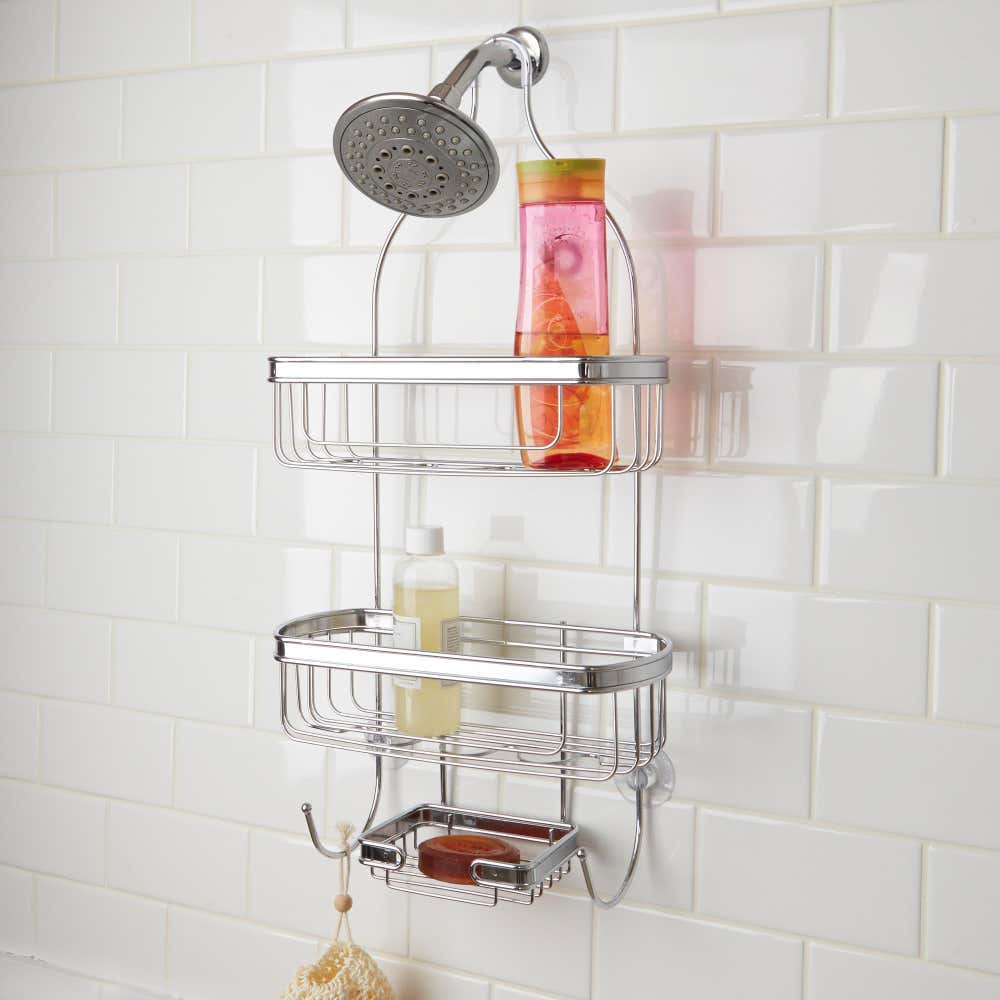 57958_Splash_2_Tone_Shower_Caddy__Chromewire_