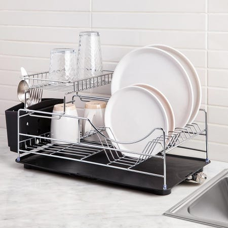 61026_KSP_Scoop_2_Tier_Dish_Rack___Black
