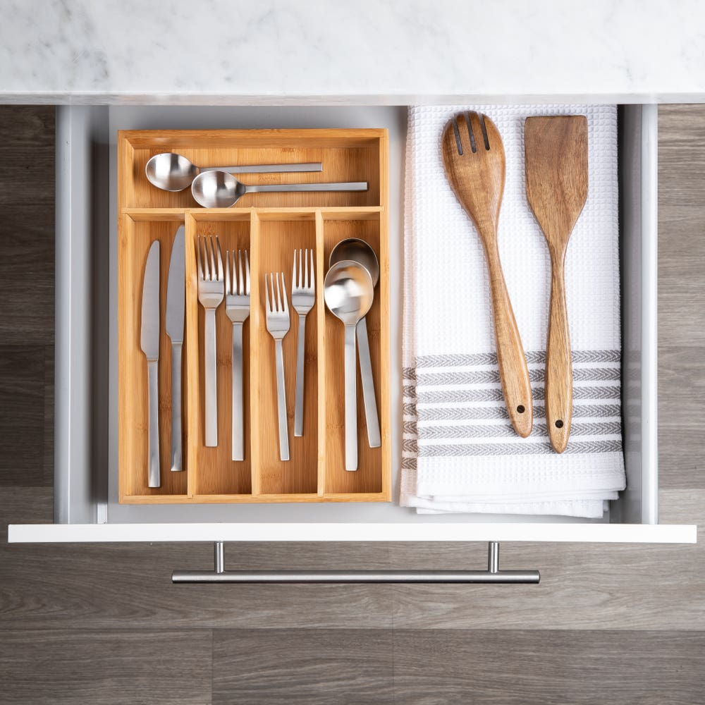 KSP Natura Bamboo Cutlery Tray 5-Slot (Natural)