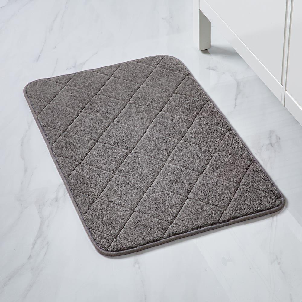 Harman Supreme Large Microfiber Memory Foam Bathmat (Grey)