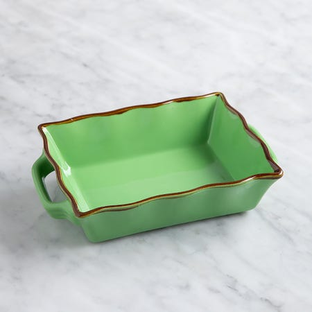70674_KSP_Tuscana_Small_Rectangle_Fluted_Bakeware_with_Handle__Green
