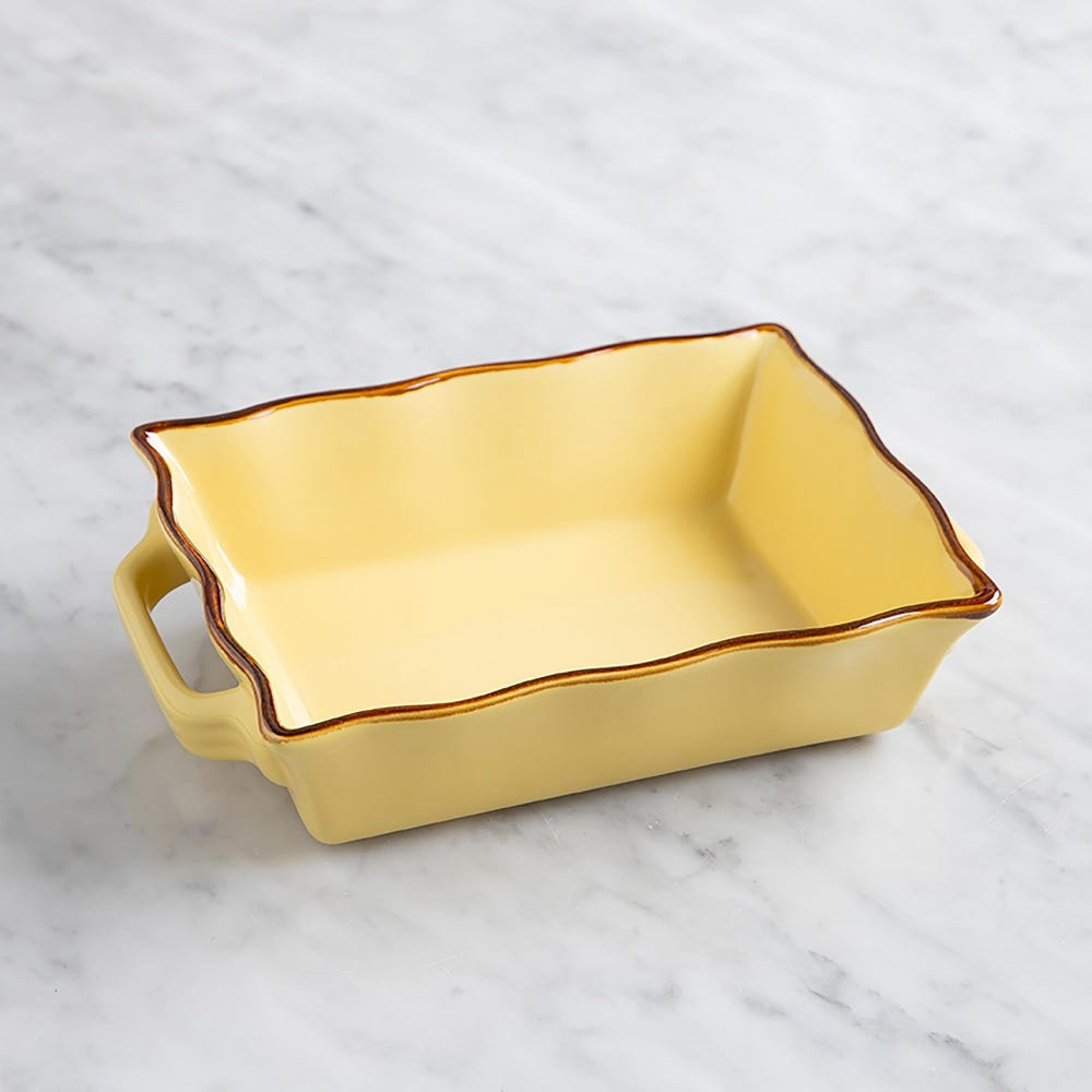 70675_KSP_Tuscana_Small_Rectangle_Fluted_Bakeware_with_Handle__Yellow