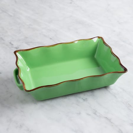 70678_KSP_Tuscana_Medium_Rectangle_Fluted_Bakeware_with_Handle__Green