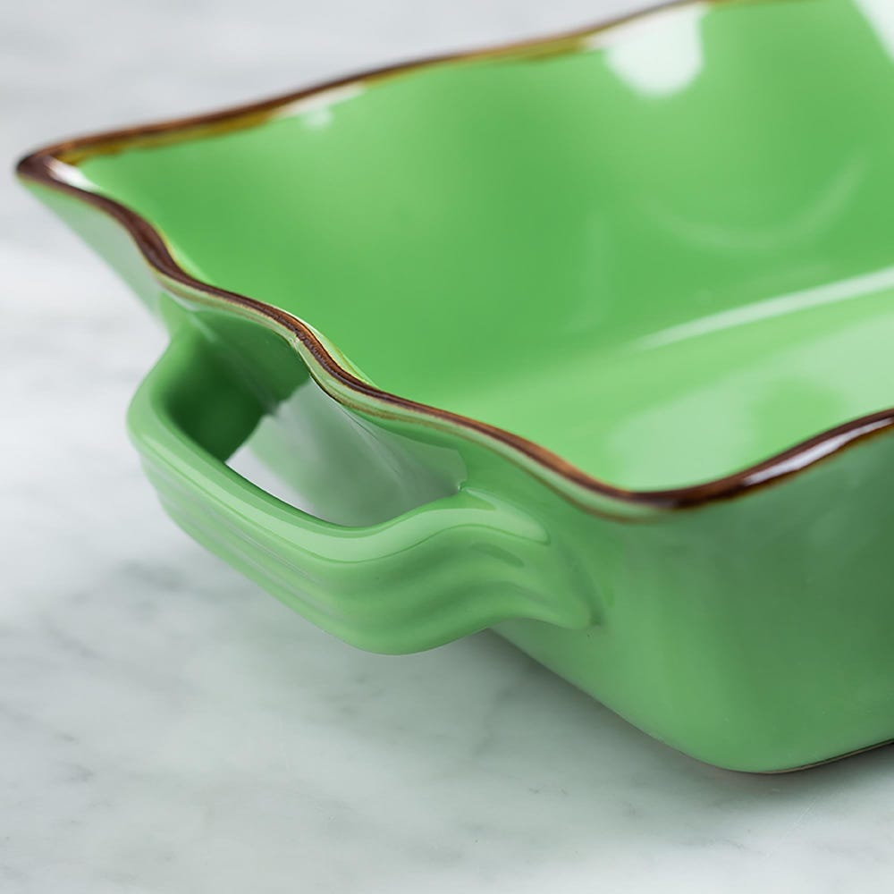 70678_KSP_Tuscana_Medium_Rectangle_Fluted_Bakeware_with_Handle__Green