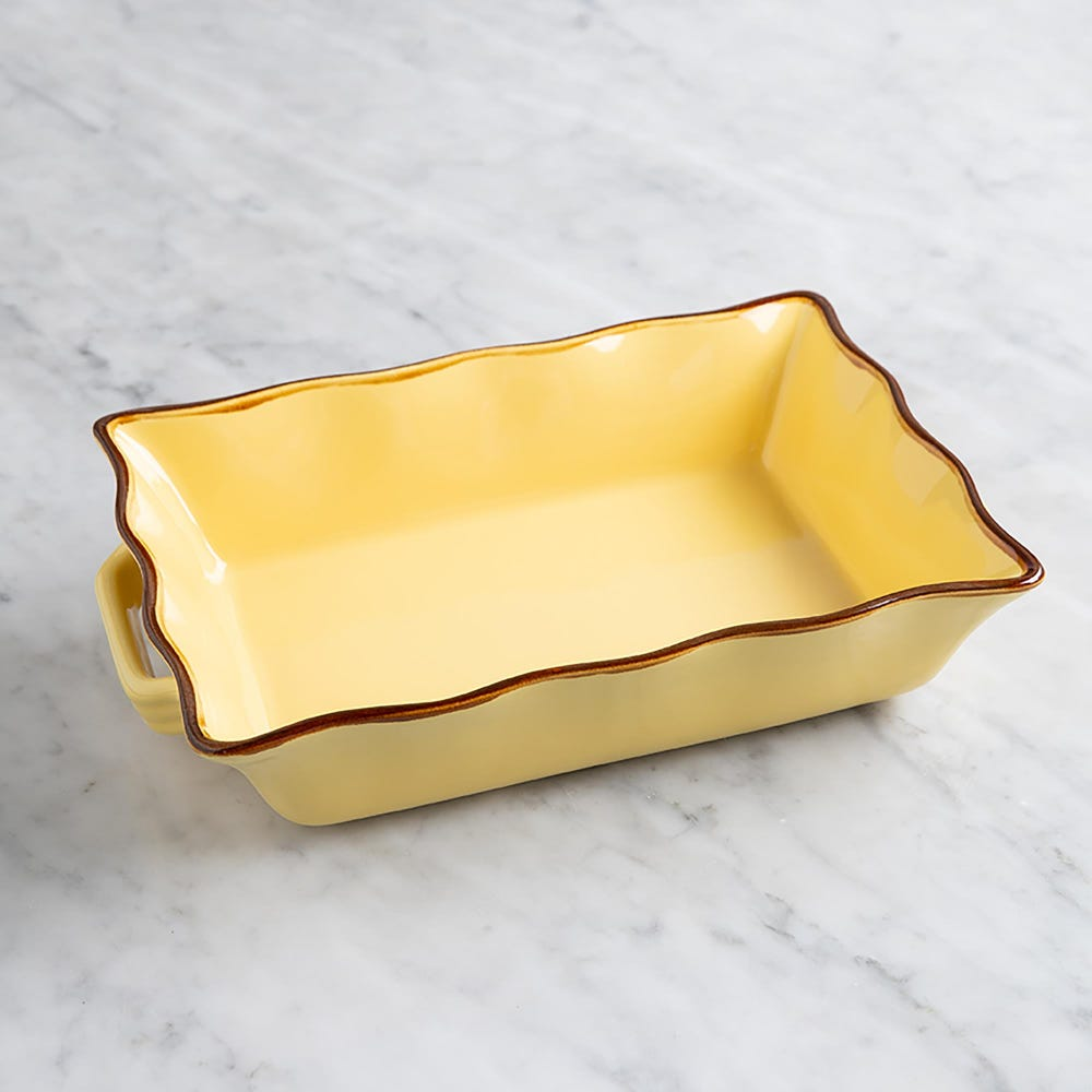 70679_KSP_Tuscana_Medium_Rectangle_Fluted_Bakeware_with_Handle__Yellow