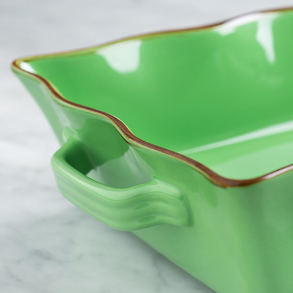 70682_KSP_Tuscana_Large_Rectangle_Fluted_Bakeware_with_Handle__Green