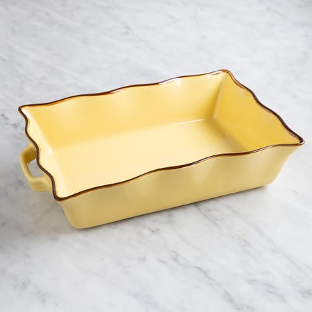 70683_KSP_Tuscana_Large_Rectangle_Fluted_Bakeware_with_Handle__Yellow