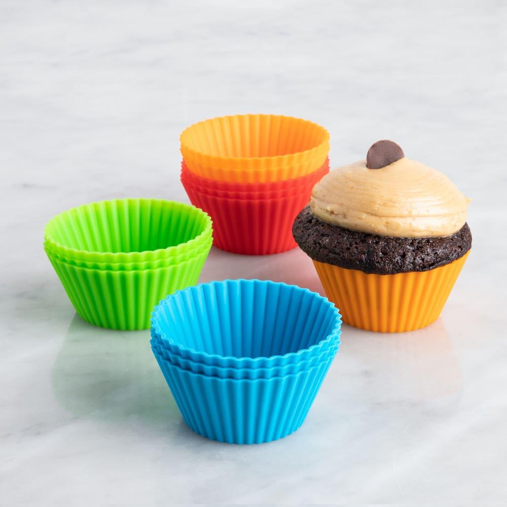 KSP Colour Splash Silicone Cupcake Liners - Set of 12