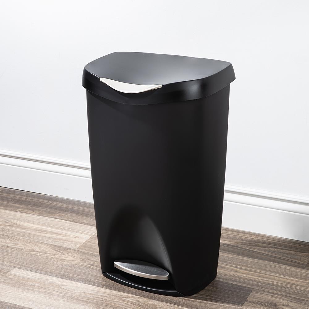 75137_Umbra_Brim_Step_Garbage_Recycling_Can__Black