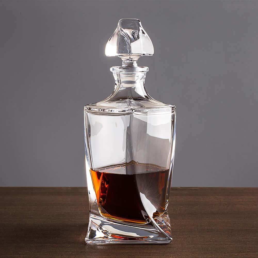 75682_Trudeau_Bohemia_'Quadro'_Whiskey_Decanter__Clear