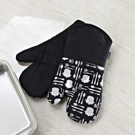 75919_Harman_Printed_'Utensil'_Silicone_Oven_Mitt___Set_of_2__Black