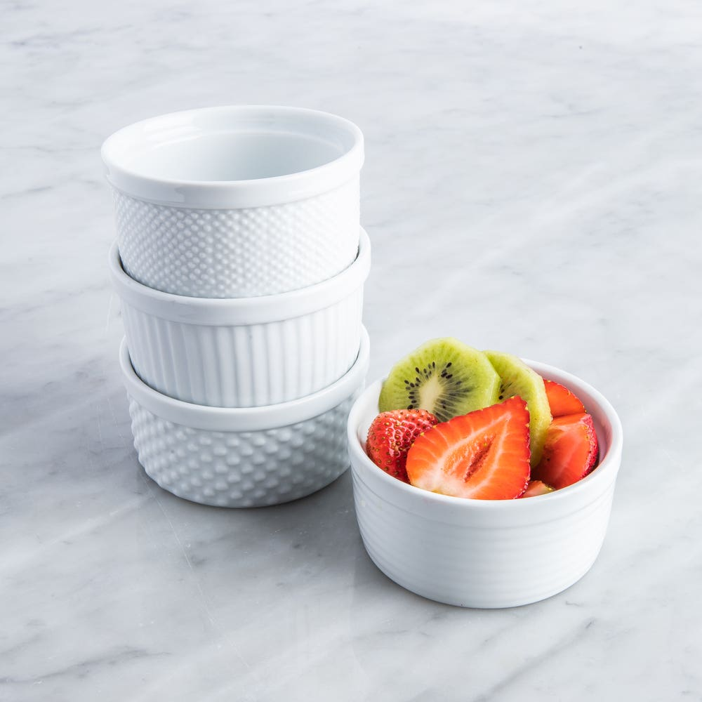 KSP Sensa Porcelain Ramekin Textured - Set of 4 (White)