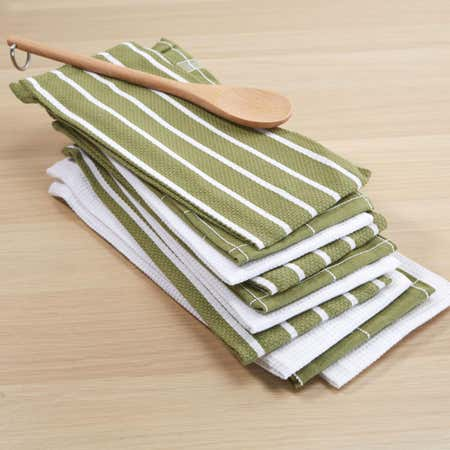 76615_Harman_Multi_Check_100__Cotton_Tea_Towel___Set_of_10__Green