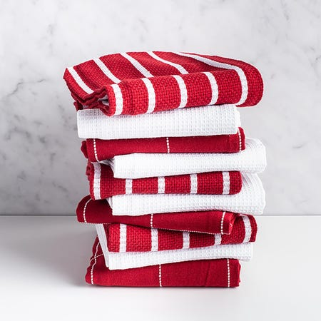 76617_Harman_Multi_Check_100__Cotton_Tea_Towel___Set_of_10__Red