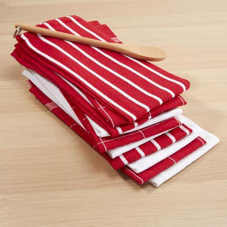 76617_Harman_Multi_Check_100__Cotton_Tea_Towel___Set_of_10__Red