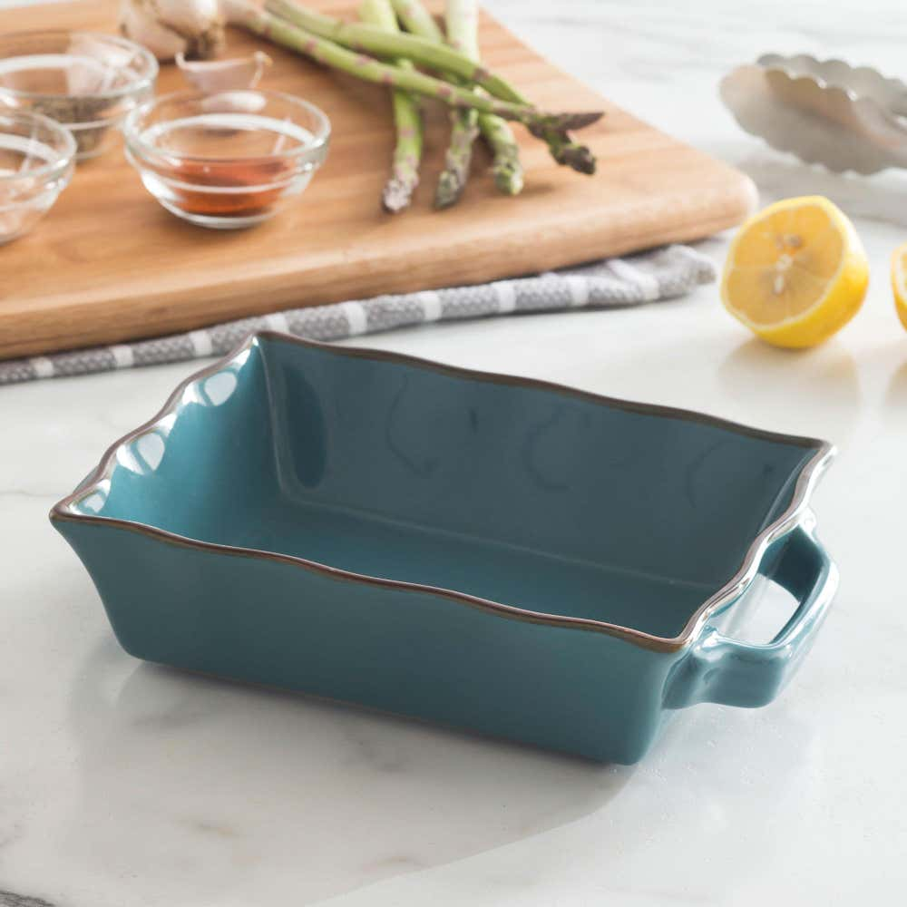 76945_KSP_Tuscana_Small_Rectangle_Fluted_Bakeware_with_Handle__Aqua