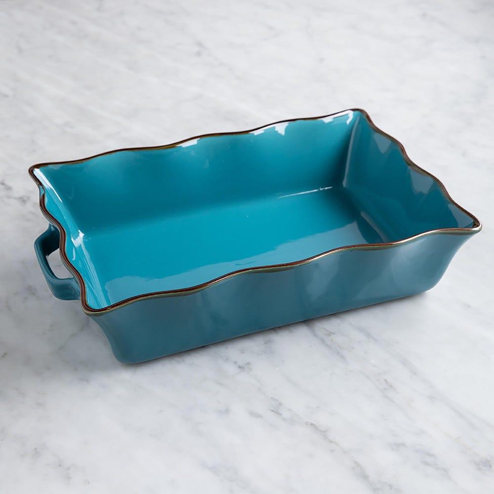 76949_KSP_Tuscana_Large_Rectangle_Fluted_Bakeware_with_Handle__Aqua