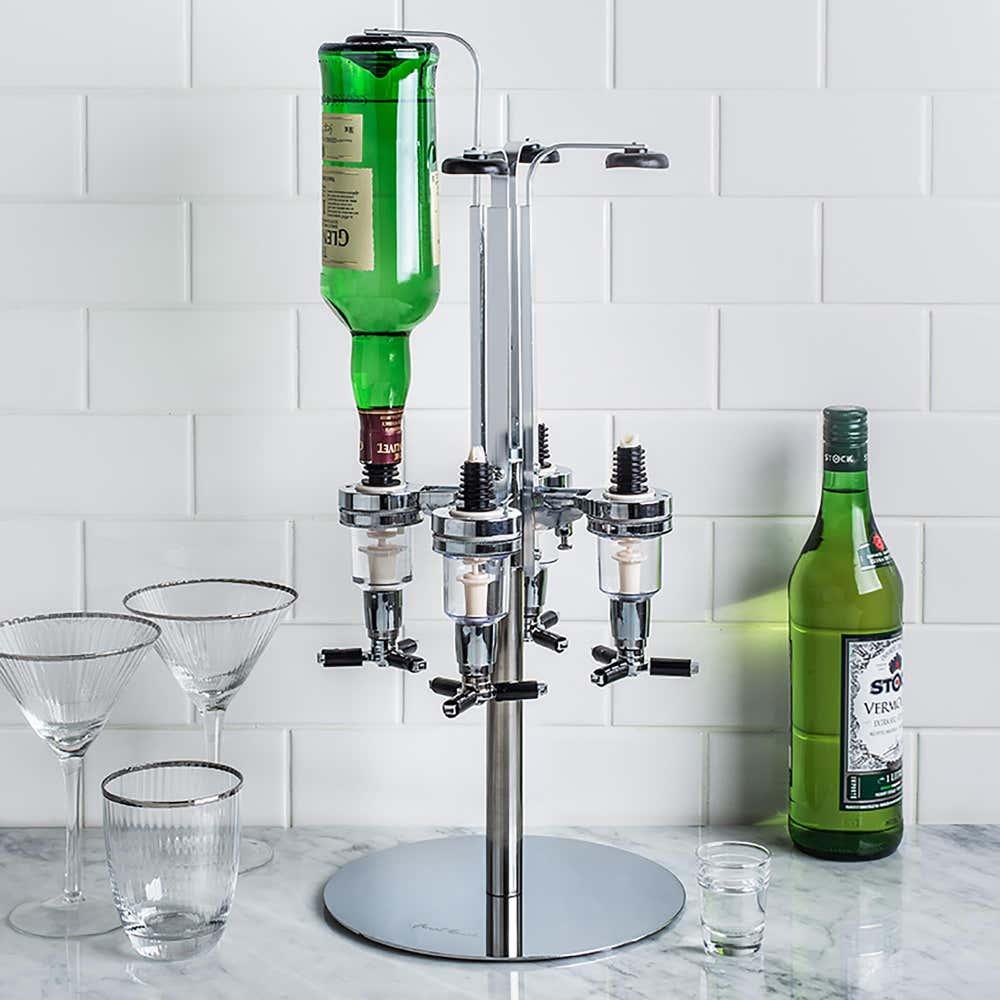 76982_Final_Touch_Bar_Caddy_4_Bottle_Liquor_Dispenser__Aluminum