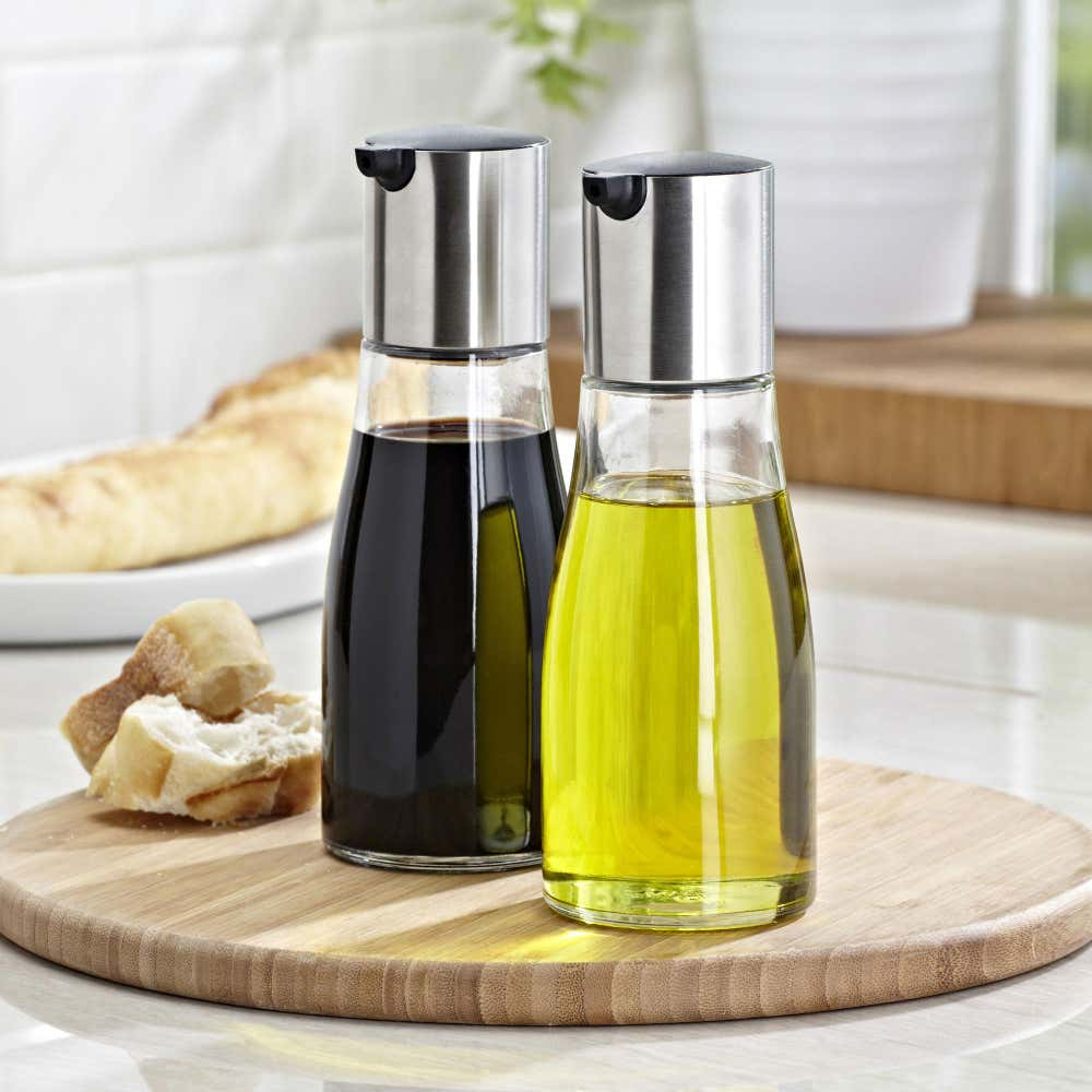 76984_KSP_Ascent_Glass_Oil___Vinegar___Set_of_2__Stainless_Steelclear