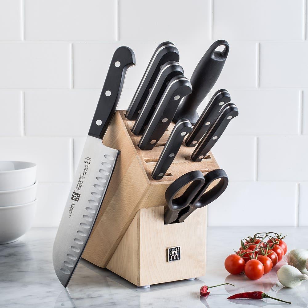 ZWILLING TWIN Gourmet 10 Pc Natural Wood Knife Block Set