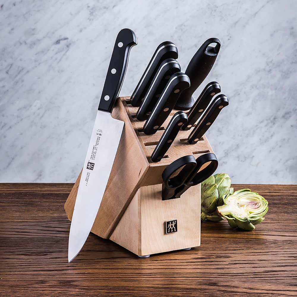 77876_ZWILLING_TWIN_Gourmet_10_Pc_Natural_Wood_Knife_Block_Set