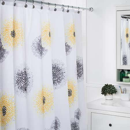 79485_Moda_At_Home_Polyester_'Blossom'_Shower_Curtain__Yellow_Grey