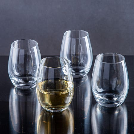 79707_Home_Essentials_Red_Series_Stemless_Wine_Glass___Set_of_4__Clear