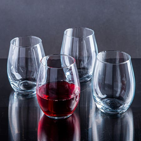 79708_Home_Essentials_Red_Series_Stemless_Wine_Glass___Set_of_4__Clear