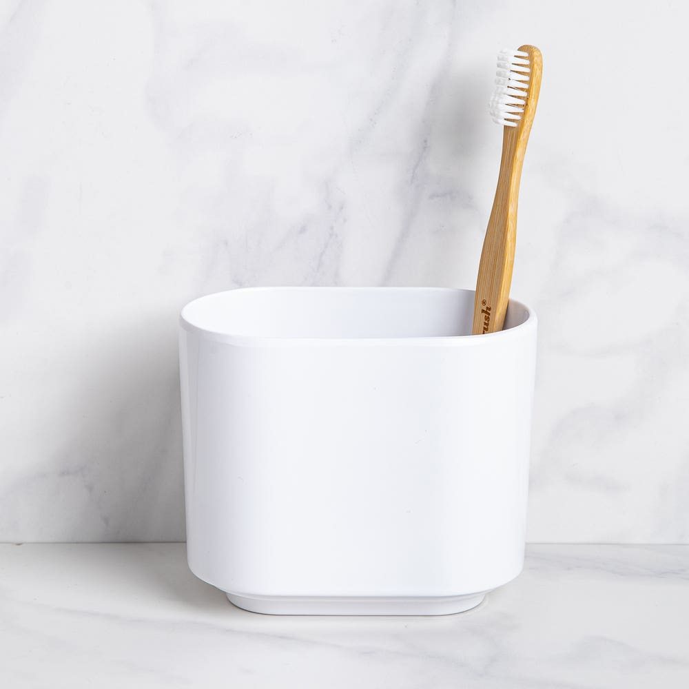 Umbra Step Melamine Toothbrush Holder (White)