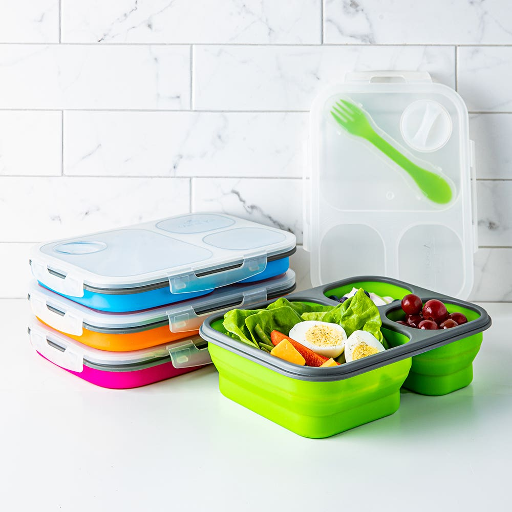 KSP Lunch Pop! Bento 'Rectangle' Silicone Food Container (Asstd.)