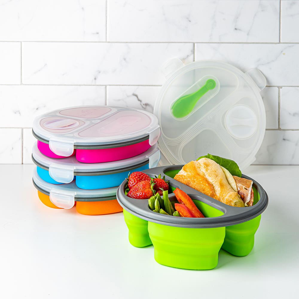 KSP Lunch Pop! Bento 'Round' Silicone Food Container (Asstd.)
