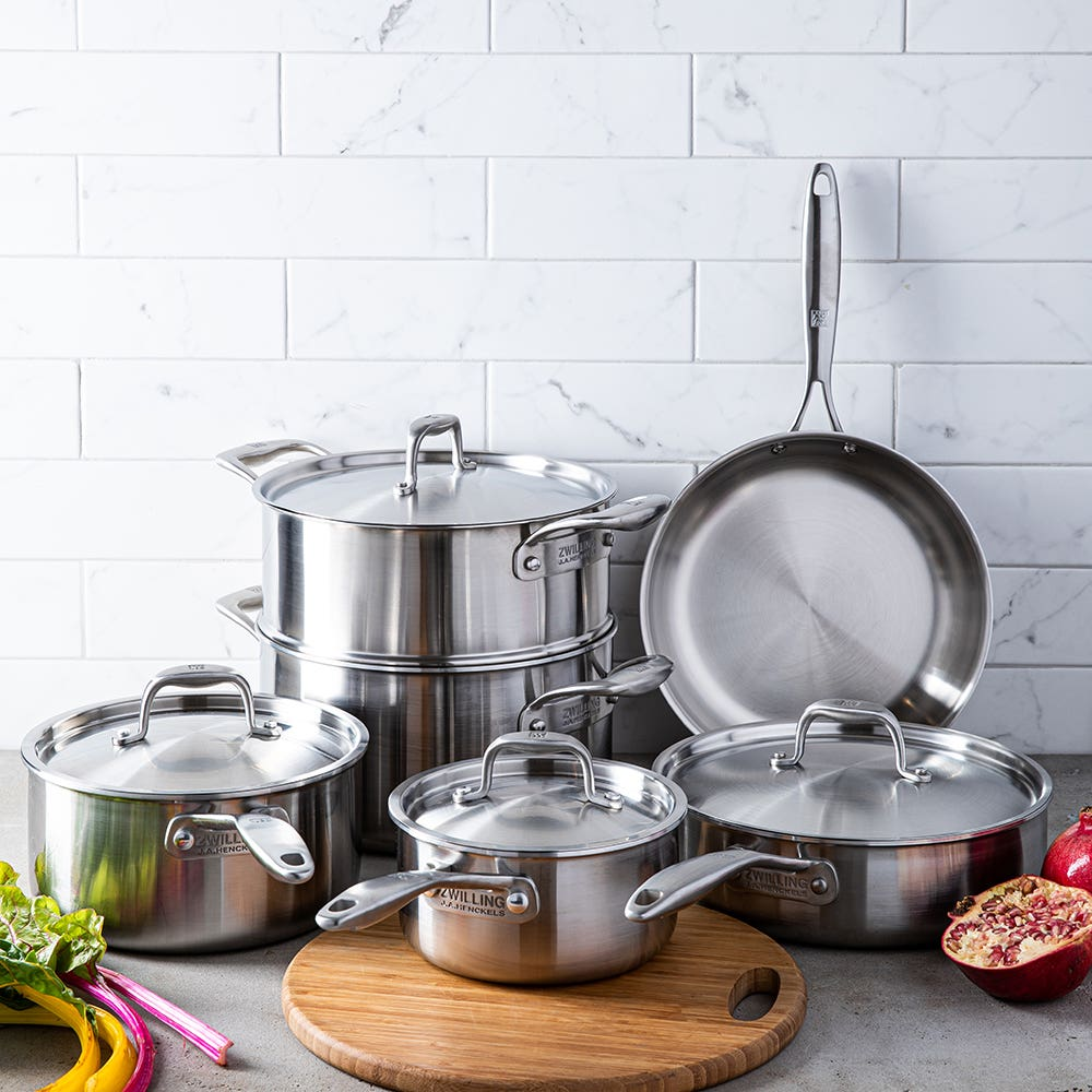 ZWILLING Sol II Cookware Set - Set of 10 (Satin St/St)