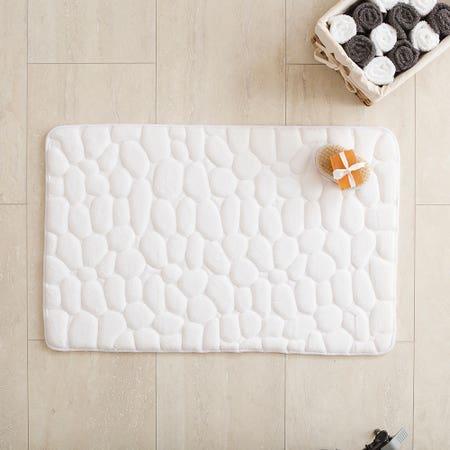 Bathmat Stone 20X32 White