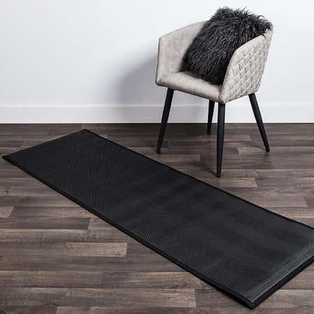 80481_Harman_Textaline_'Herringbone'_24_x72__Indoor_Outdoor_Mat__Black