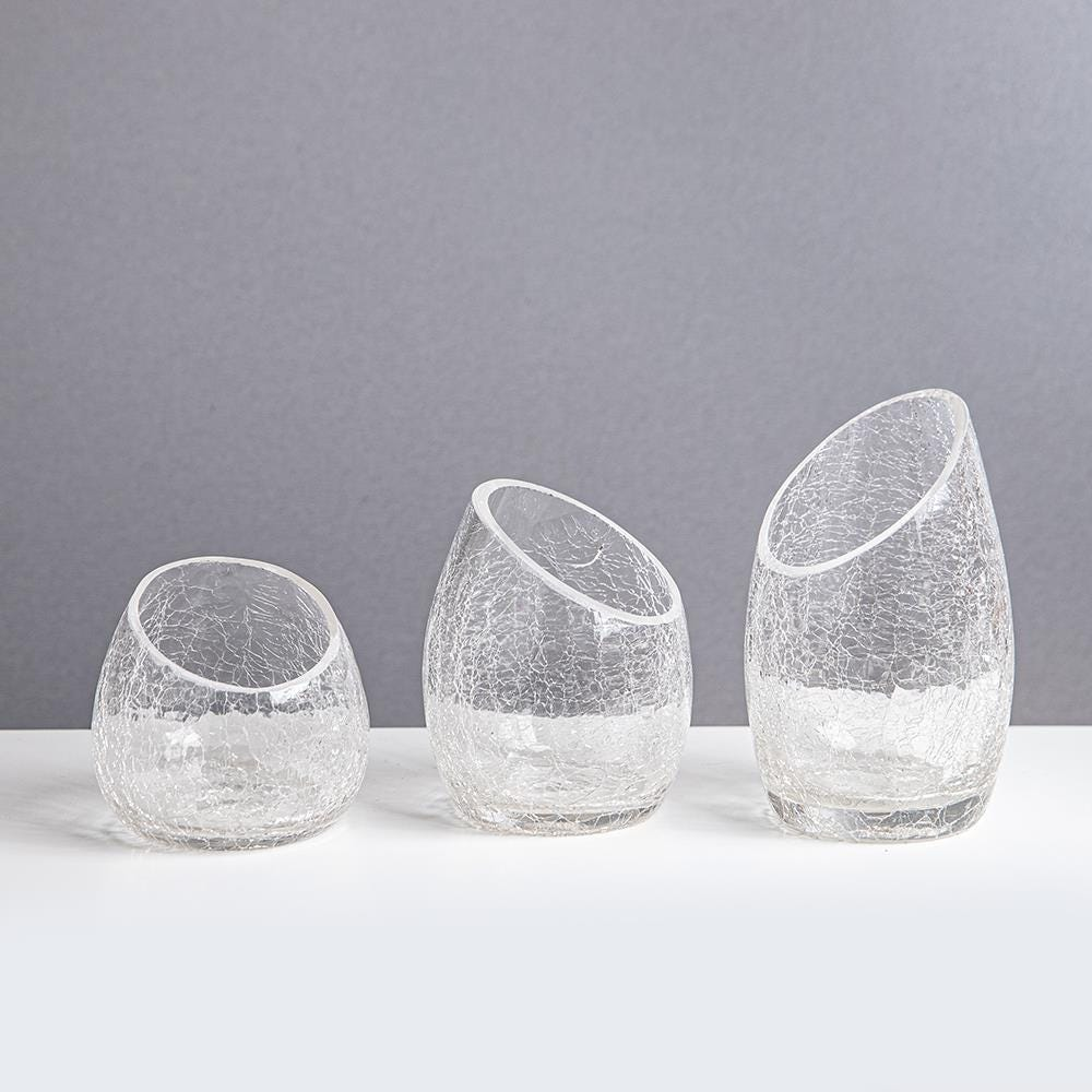 80504_KSP_Ellipse_Crackle_Glass_Tealight_Holder___Set_of_3__Clear