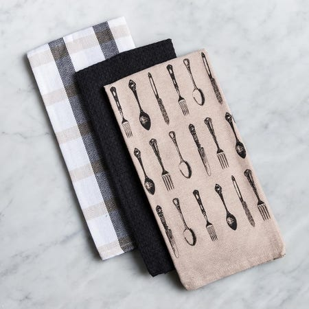 81322_Harman_Combo_'Vintage_Cutlery'_Cotton_Kitchen_Towel___Set_of_3__Black