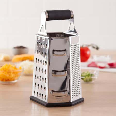 81374_Task_Cuisine_6_Sided_Tower_Grater_Hexagon__Black_Stainless_Steel