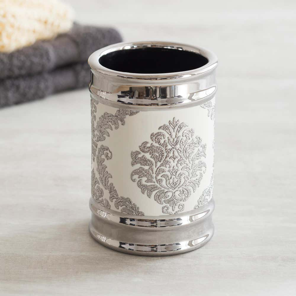 82251_Moda_At_Home_Damask_Ceramic_Tumbler__White_Silver