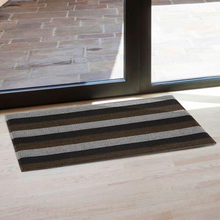 82667_KSP_Loop_'Wide_Stripe'_Pvc_Floor_Mat__Brown_Grey_Black