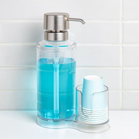 82997_iDesign_Clarity_Mouthwash_Caddy__Clear