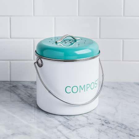 83048_Kitchen_Basics_Enviro_Metal_Compost_Pail__Teal_White