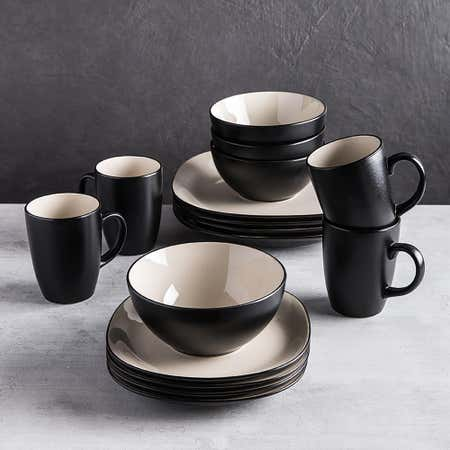 83102_Thomson_Pottery_Fontana_Stoneware_Dinnerware___Set_of_16__Black