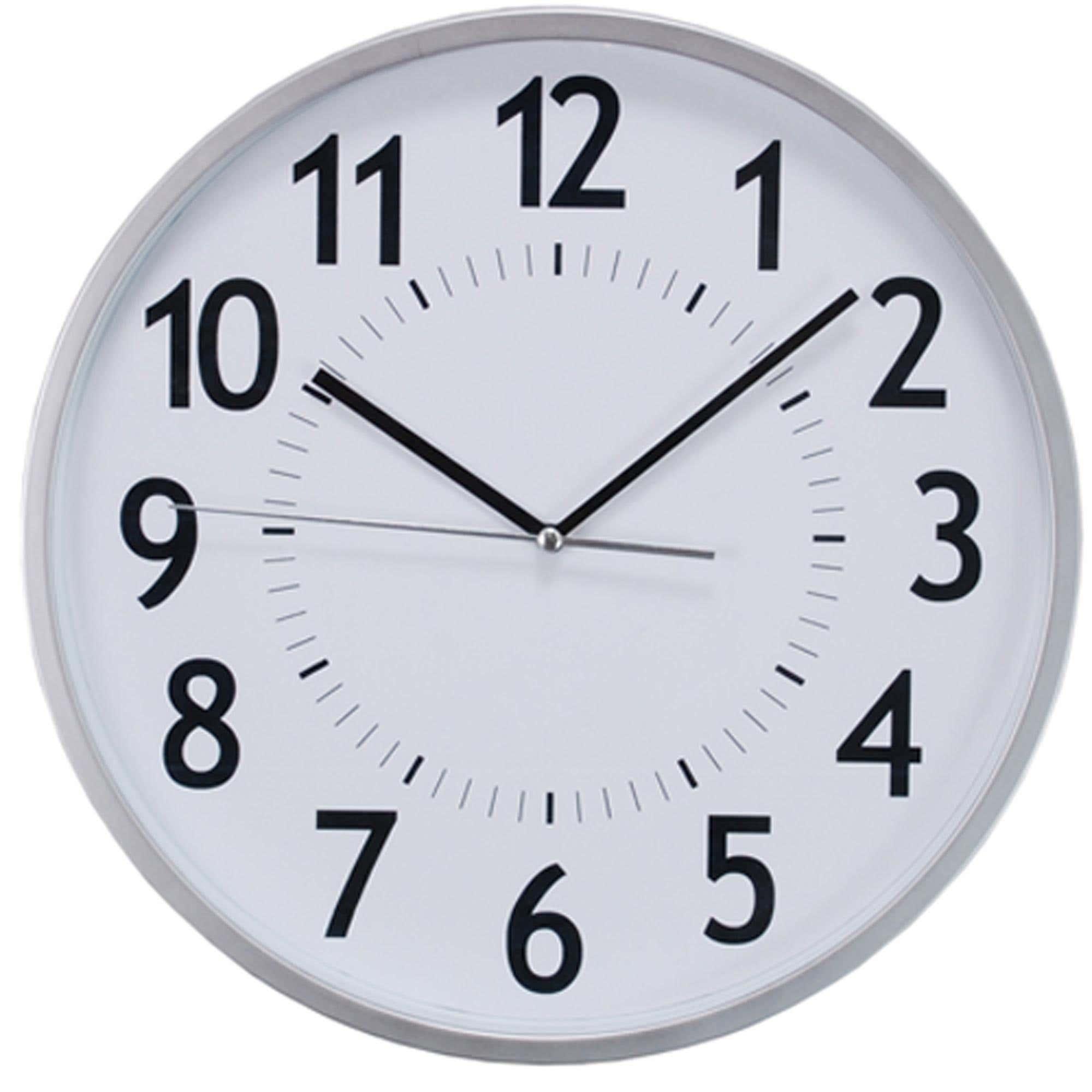 Kiera Grace Synchro Wall Clock Silver Kitchen Stuff Plus