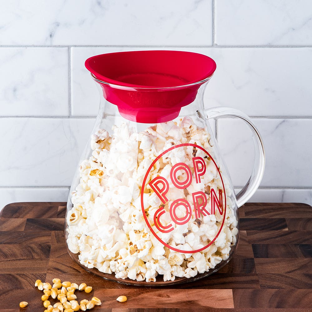 KSP Quikpop Glass Popcorn Maker with Silicone